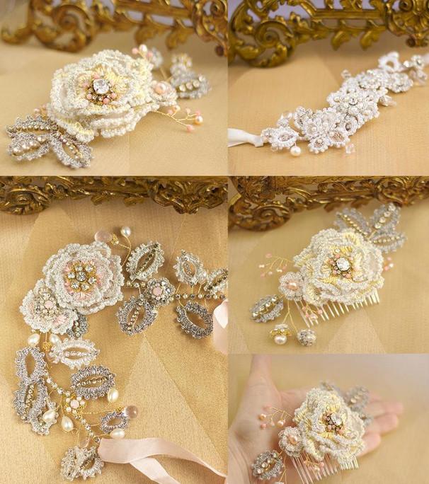 Потрясающие вязаные браслеты, серьги, колье! 150 прекрасных украшений крючком и спицами...