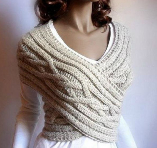 Японский шарф-трансформер: новый образ каждый день! 4 варианта вязания со схемами и описанием...