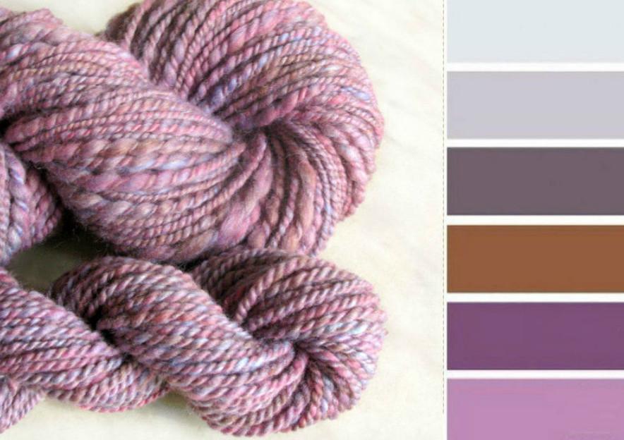 Сочетание цветов в вязание спицами 352