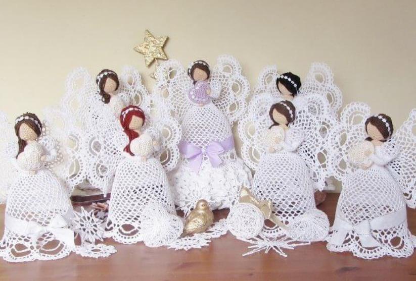 Прекрасные ангелочки, связанные крючком со схемой!