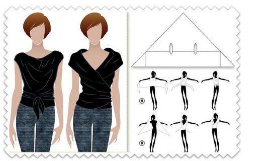 15 цельнокроеных модных выкроек для не умеющих шить! Для начинающих портных...