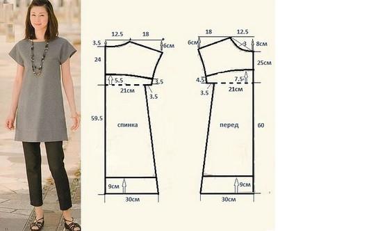 19 цельнокроеных модных выкроек для не умеющих шить! Для начинающих портных...