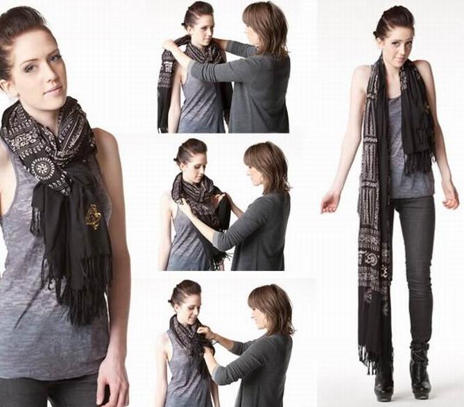 Как красиво носить шарф: 9 модных идей для твоего гардероба! или Как стать Королевой Стиля? Носите шарф!