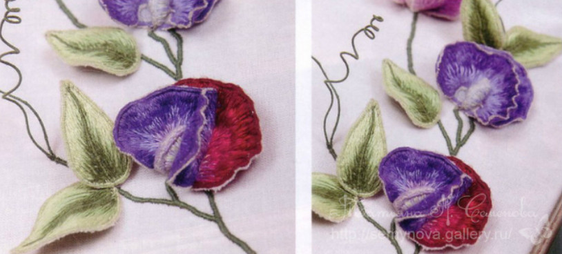 Мастер-класс: очарование объемной глади. Потрясающие работы Татьяны Семеновой! Изумительная вышивка!