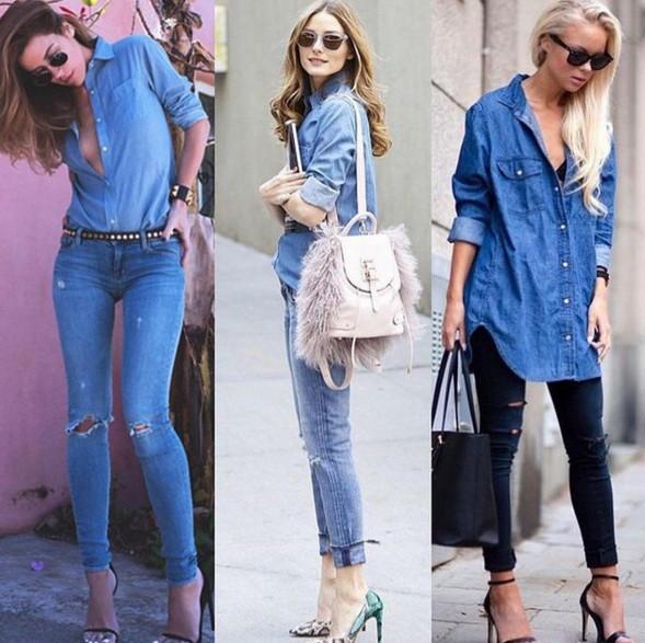 Как стильно сочетать джинсы?
