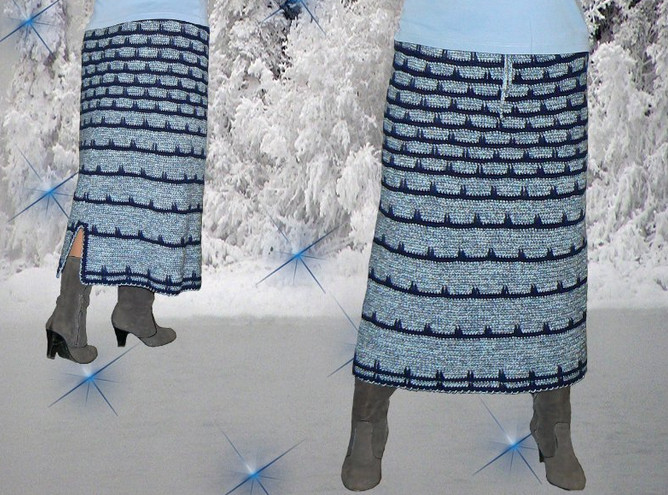Кто сказал, что вязаная одежда не годится для праздников?! Нарядный крючок...