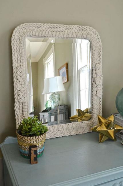 Как сделать уникальное зеркало в плетеной раме... Или как волшебно преобразилось старое зеркало!