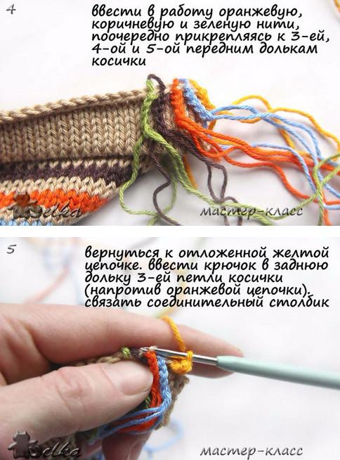 Интересная и простая идея оформления горловины... Неожиданно и очень симпатично!