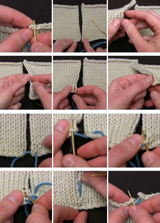 Как сшить вязаные детали иглой или крючком: 2 классных способа... шов получается аккуратным и незаметным с лицевой стороны!