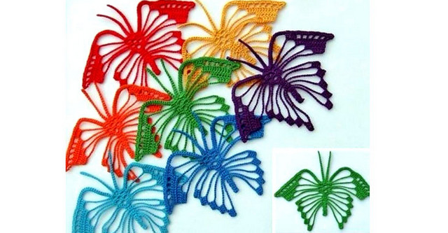 Вязаные бабочки на любой вкус! Взмах крыла-вязаные бабочки....