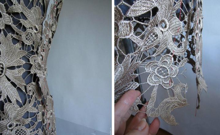 Как обработать горловину и швы изделий из кружев... Если вы шьете праздничный наряд!