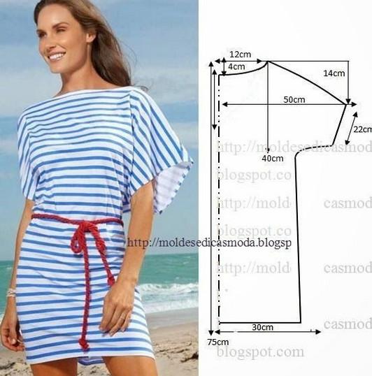 Простые выкройки туник и летних платьев