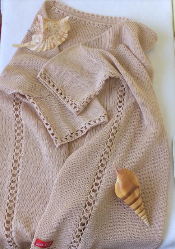 Боковой шов ажурной дорожкой: мастер-класс Веры (Вориме)... Такой шов можно использовать для соединения деталей, мотивов!