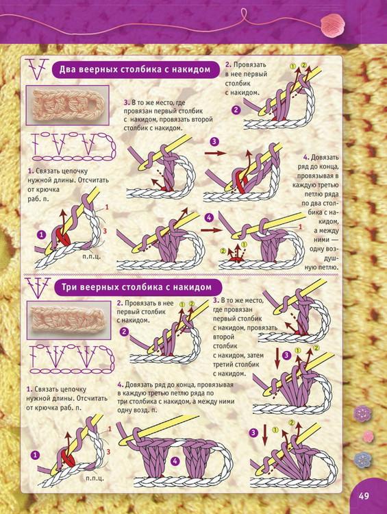 Пошаговый самоучитель вязания крючком. Урок 10