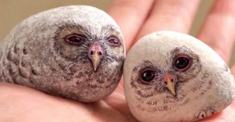 Она использует камни, чтобы рисовать на них потрясающих животных!