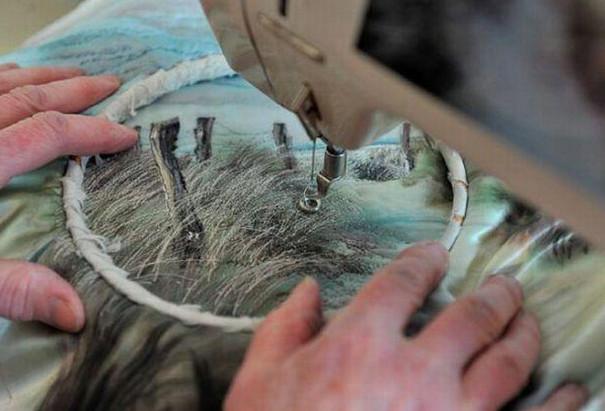Впечатляющие швейные пейзажи Джилл Дрэпер (Jill Draaper)... Вместо красок - нитки, вместо кисти – швейная машинка!