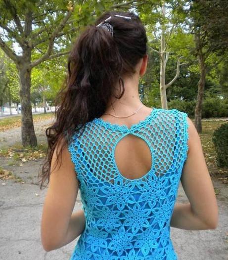Ажурное платье крючком.... Схемы!