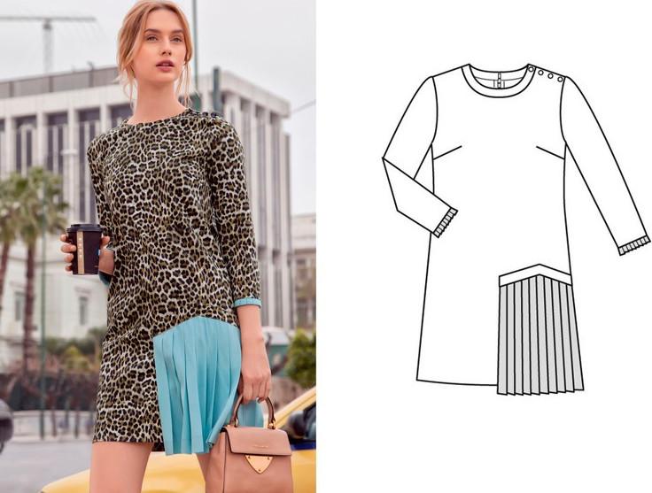 Как сшить стильное платье из джинсовой рубашки.... Если завалялась лишняя просторная рубашка!