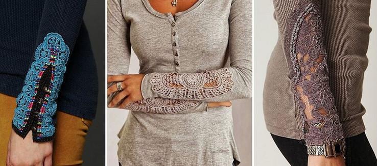 Преображаем рукава: идеи для декора или реставрации... С кружевом — просто улет!