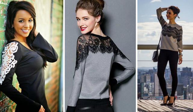 Кружева, ах кружева))) Кружева удивительно меняют и облагораживают самую обычную одежду!