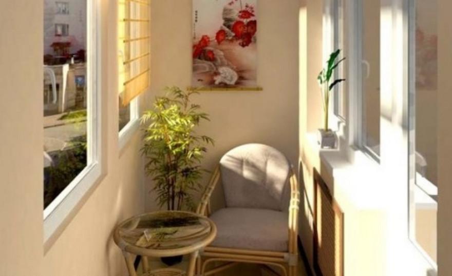 """Балкон в хрущевке похожий на зону отдыха"""" - карточка пользов."""