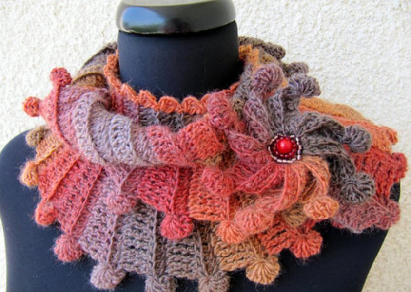Мастер-класс: вяжем крючком восхитительный шарф «Фантазия»
