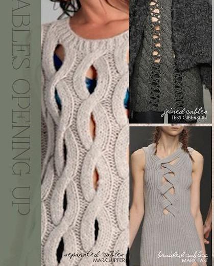 Сквозные узоры спицами: 4 варианта вязания