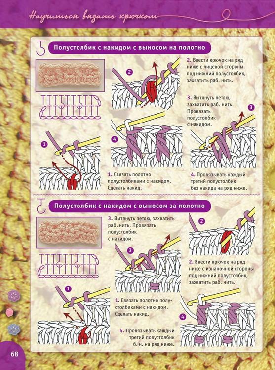 Пошаговый самоучитель вязания крючком. Урок 13