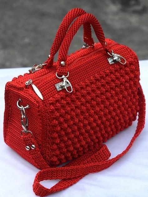 Красивая стильная сумочка крючком. Фото Мастер класс... Хочу себе такую!