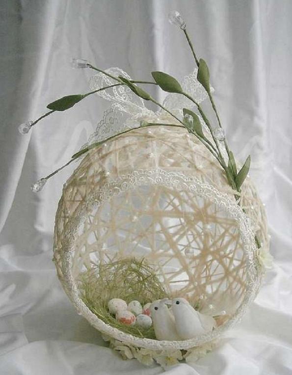 Сделала с дочерью восхитительное яйцо-гнездо к Пасхе... Только посмотри на это чудо!