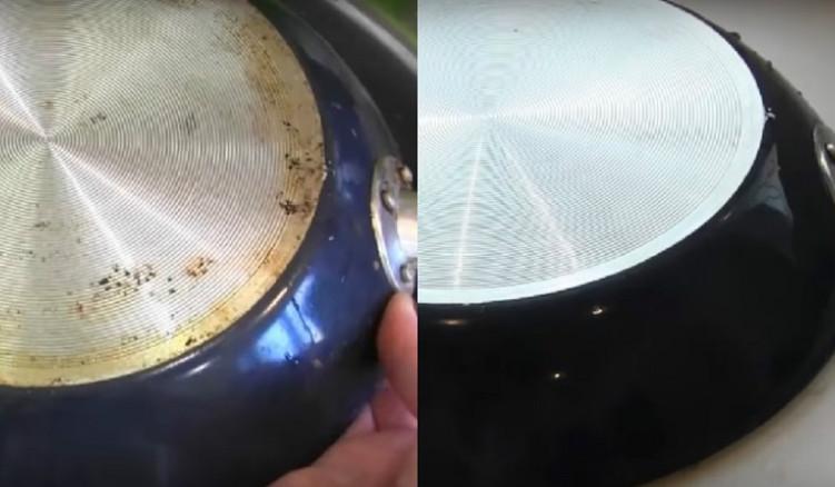 Старинный способ почистить сковородку от нагара и застывшего жира... Отменный результат без затрат!