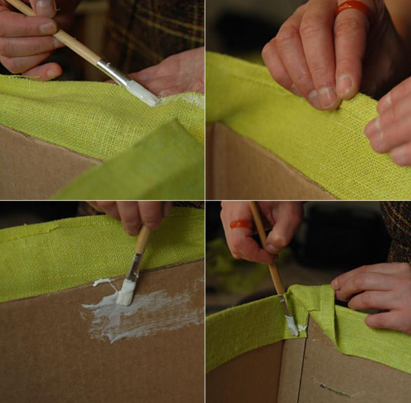 Новая жизнь старой коробки... Для удобного хранения вещей!
