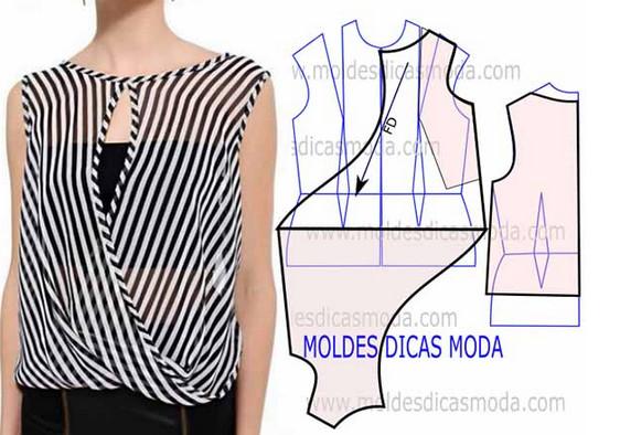 Выкройки необычных блуз и жакетов: 8 интересных моделей...