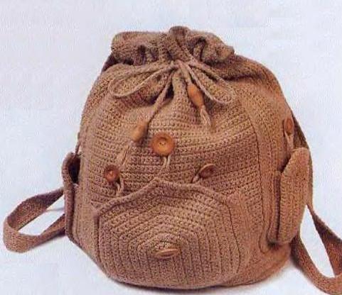 Вяжем рюкзак из трикотажной пряжи: 5 интересных вариантов рюкзачков... Такая практичная вещь!