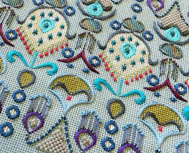 Великолепие вышивок от Orna Willis... Изысканная вышивка!