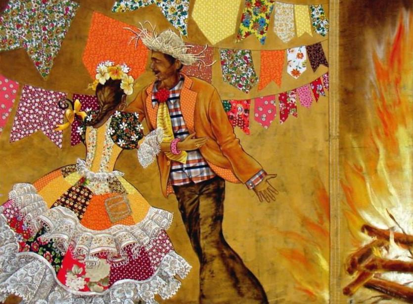 Бразильская художница Sandra Regina de Paula Freitas... Ну очень красиво в стиле пэчворк!