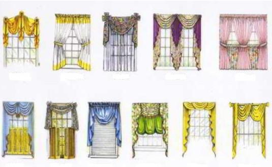 Шикарные варианты занавесок и штор с различной драпировкой... Как же это красиво!