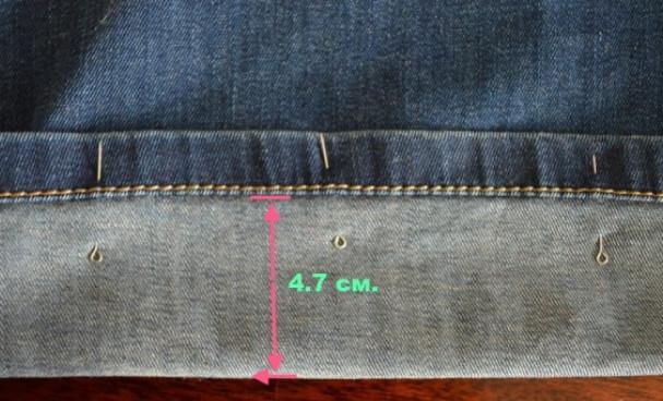 Хитрый и простой способ , чтобы это не было заметно… Подшиваем джинсы красиво - не обрезая и сохраняя строчку