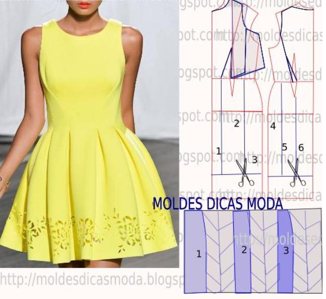 Модные и простые платья своими руками