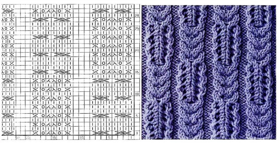 Клубок.кг7.ру вязание спицами схемы узоров с описанием