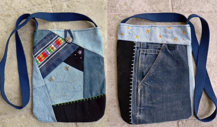 Сумки из ненужных джинс. 122 идеи для вдохновения!