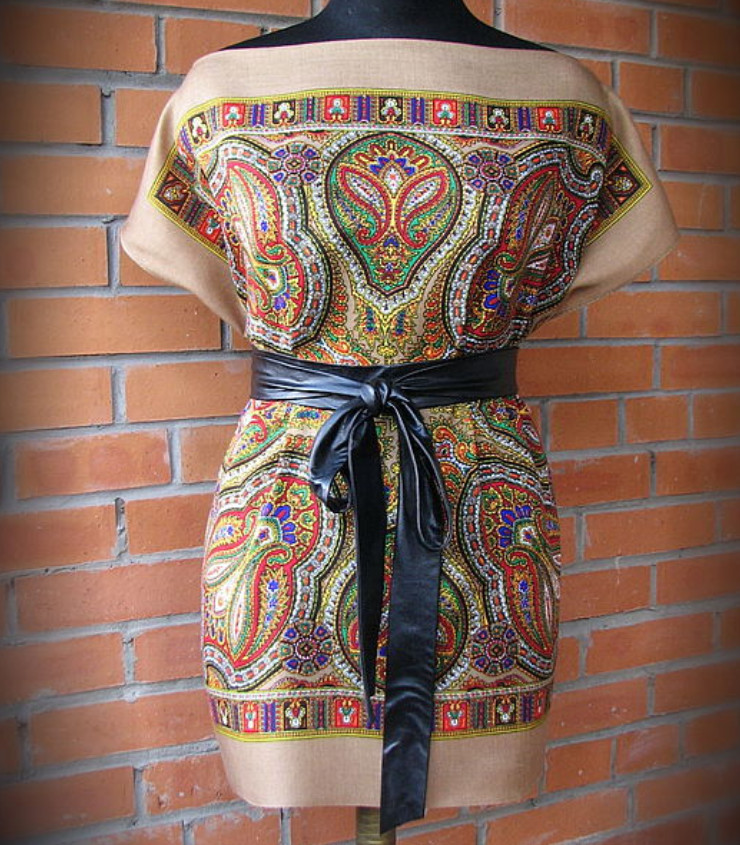 Шьём платье из платков... Легко и просто! ИДЕИ, ВЫКРОЙКИ, МАСТЕР-КЛАСС...
