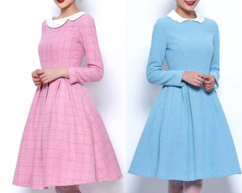 Платье татьянка с отложным воротником: выкройки изделия... Классические формы, которые пойдут каждой!