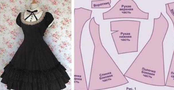 Милые платья в стиле ретро своими руками с выкройками... Оригинальные наряды для праздников и не только!