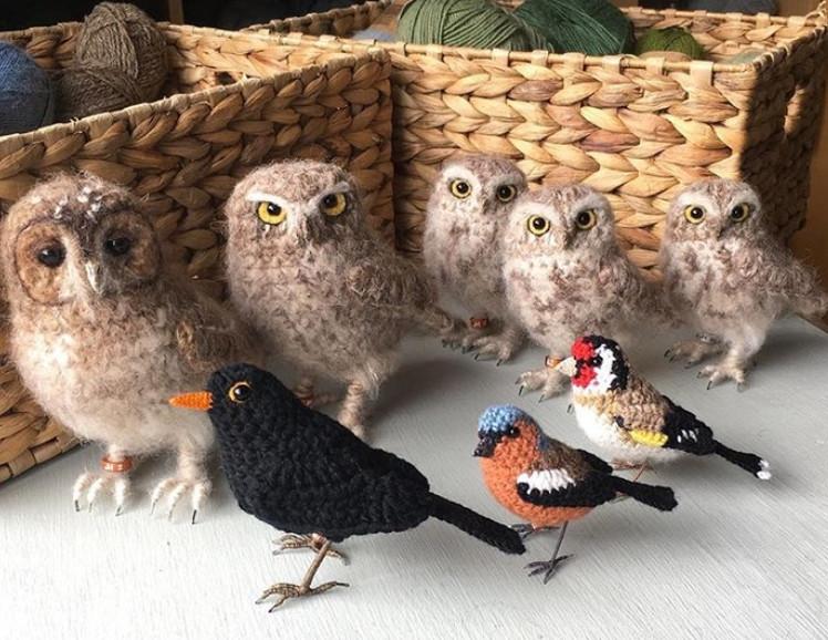 Птичий двор Jose Heroys... Вязаные птички, необыкновенной красоты!