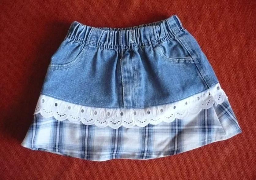 Детская джинсовая юбка своими руками из старых джинсов своими руками