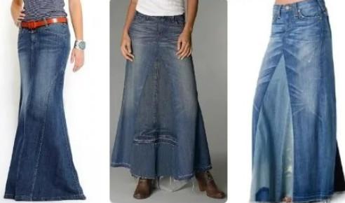 Джинсовая переделка юбки... Идеи для вдохновения!