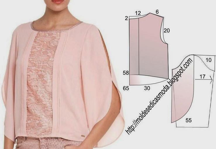 Сшить для полной женщины блузку своими руками
