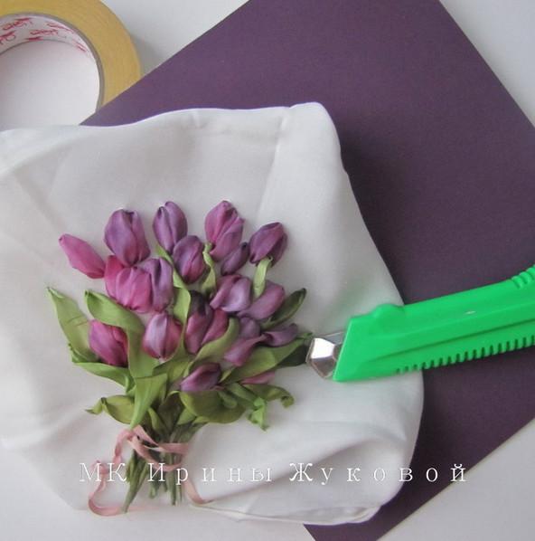 Вышиваем лентами тюльпаны... Мастер-класс Ирины Жуковой!