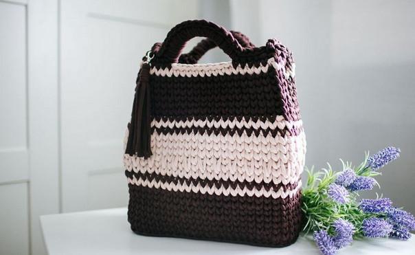 Вязаные сумки из трикотажной пряжи — новый тренд этого года... Сумочек много не бывает!